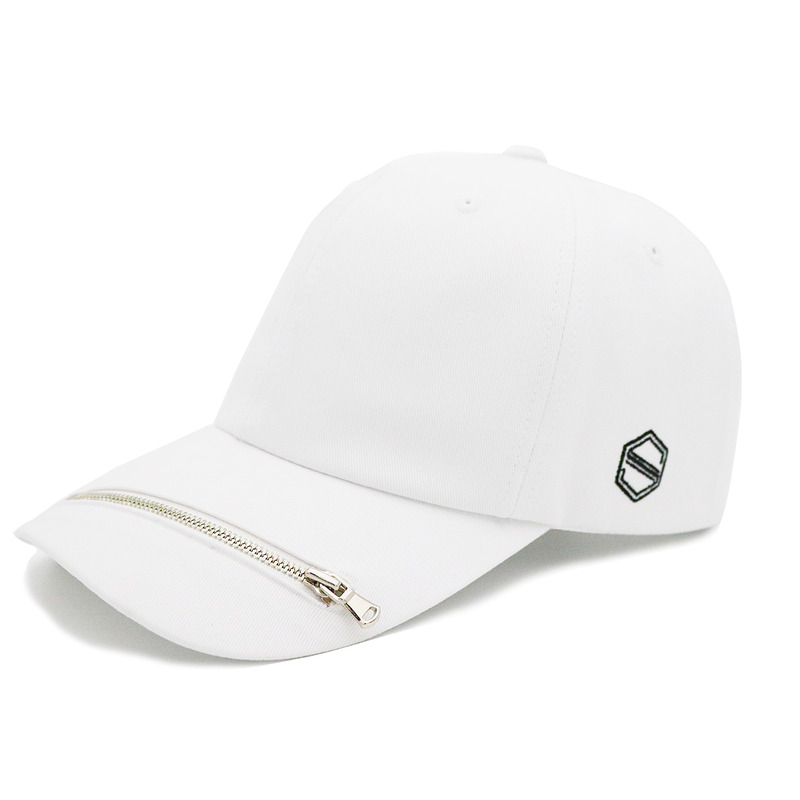 ZIPPER - WHITE COLOR BALL CAP