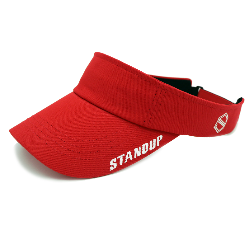 VISOR_STANDUP - RED COLOR SUN CAP
