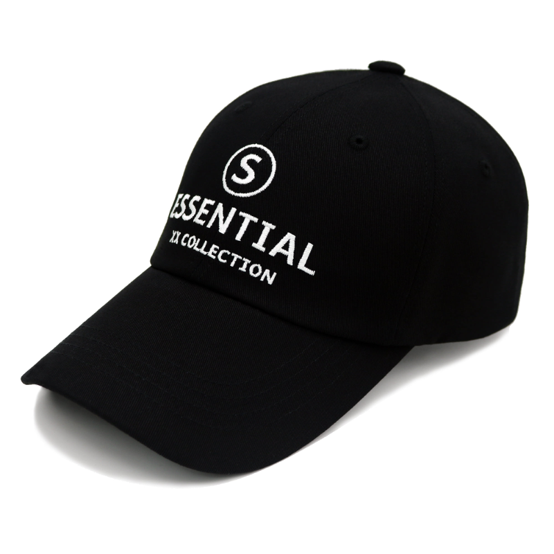 ESSENTIAL_CIRCLE_S - BLACK COLOR BALL CAP